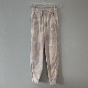 Nike Youth Purple White Sweatpants Fleece Joggers